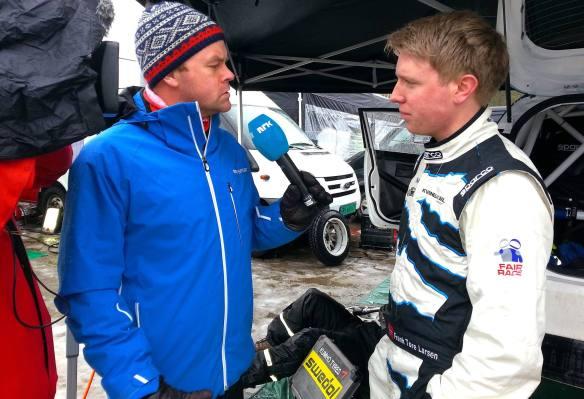 Sterk tredjeplass totalt i Rally Finnskog 2014